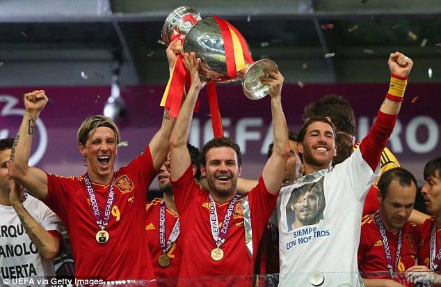 Left out: Fernando Torres (left) and Juan Mata (centre) didn't make Del Bosque's latest squad