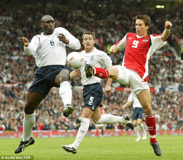 Rare: Campbell was captain for three friendly games in 1998 and 2005 but never received it long term