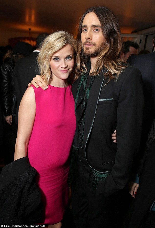 Oscar party: Both Jared Leto and Witherspoon have been nominated for the coveted Oscar; Witherspoon won for her role in Walk The Line