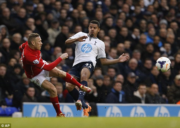 Drop zone: Struggling Cardiff fell further behind the pace with the defeat at Spurs