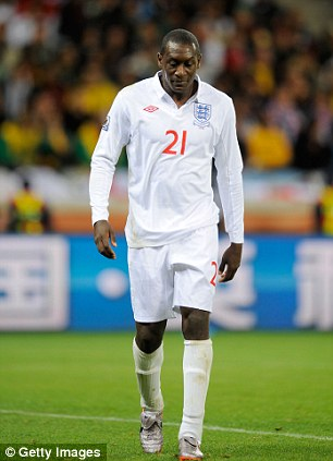 Unofficial skipper: Emile Heskey has been given the captain's armband during a game