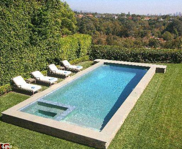 Spock-tacular: The Lost creator can enjoy the lovely view while splashing around in this luxury swimming pool