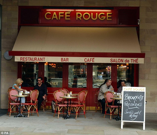 In the red: The owner of Cafe Rouge restaurants has blamed the economy after losses at the group doubled in 2013