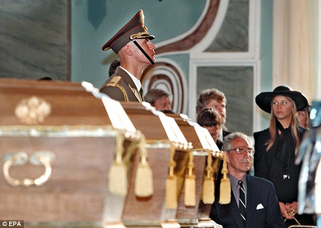 Discovery: The Romanovs were discovered in 1991 and laid to rest at the Petropavlovskaya fortress
