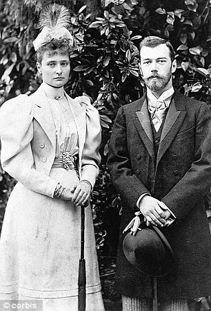 Tsar Nicholas II and his wife Alix of Hesse