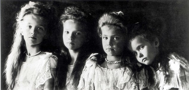 Murdered: The Romanov Grand Duchesses (from left) Olga, Tatiana, Marie and Anastasia