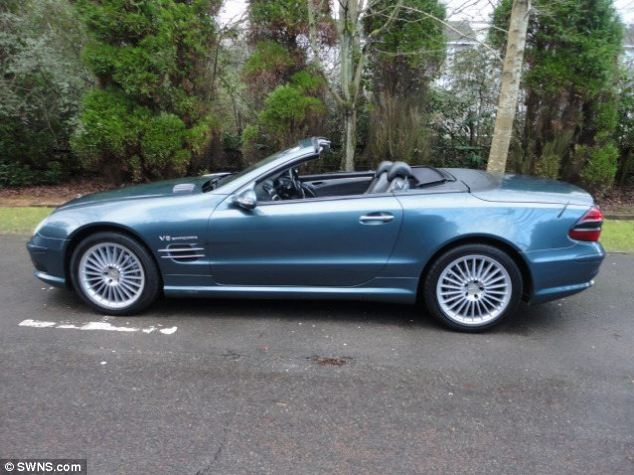 Chris Carey, boss of Emerald Motor Company, said: 'Our Mercedes SL55 is one for the true enthusiast'