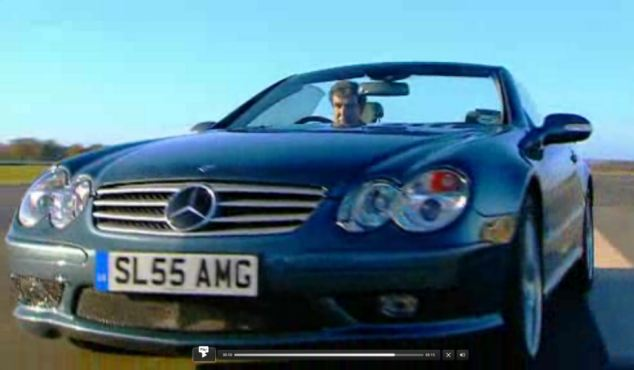 On track: The Top Gear presenter put his own car through its paces on the show