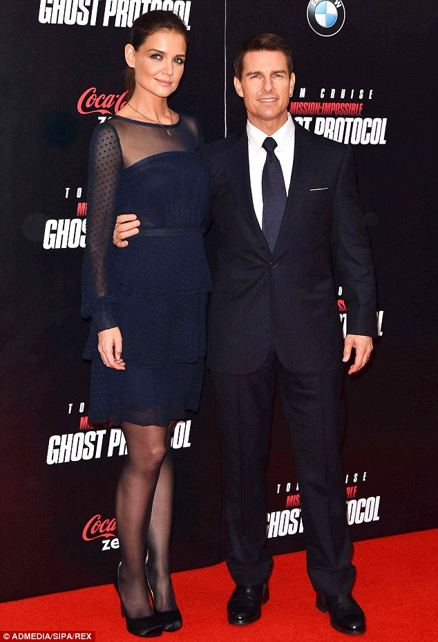 A fan of her own work: Katie wore on of her own designs as she joined former husband Tom Cruise on the Mission Impossible red carpet back in 2011 in New York