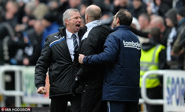 Heated: Martin O'Neill took exception to Pardew's over-zealous celebrations in the 2011 Tyne-Wear derby