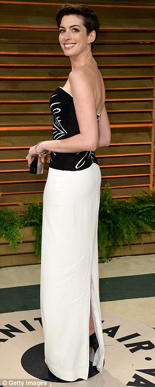 Beauties: Kate Hudson and Anne Hathaway were also on the guest list to attend