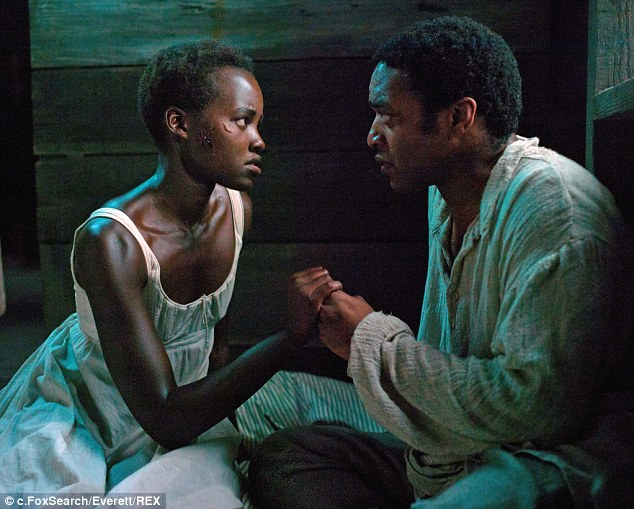 Winning performance: Lupita Nyong'o as Patsey alongside Chiwetel Ejiofor as Solomon Northup in 12Years A Slave