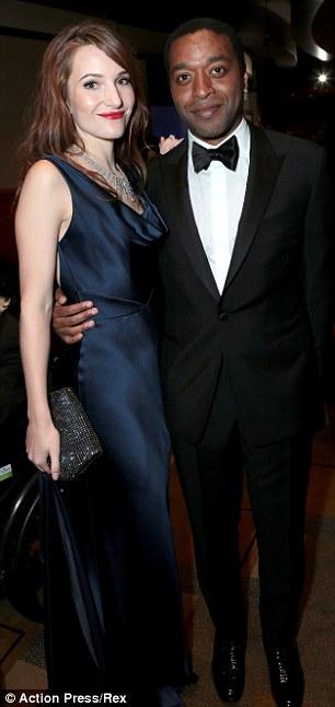 12 Years actor Chiwetel Ejiofor with girlfriend Sari Mercer