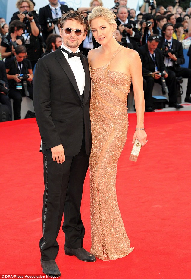 Still together? Kate has denied splitting with fiance and baby daddy Matthew Bellamy. They attended Kate's premier of The Reluctant Fundamentalist at the 69th Venice Film Festival on August 29, 2012