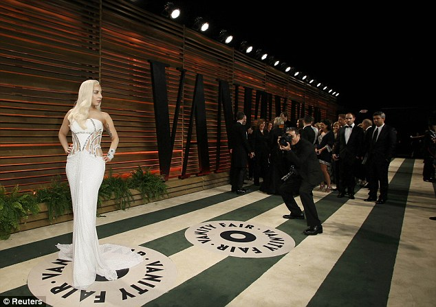 Perfecting her pose: The Born This Way star knew just how to get her best angle across