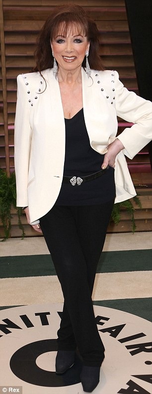 All there in black and white: Amanda Peet and Jackie Collins had a monochrome moment