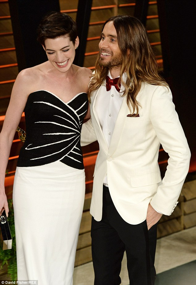 Such fun: The two Oscar winners bask in their own loveliness