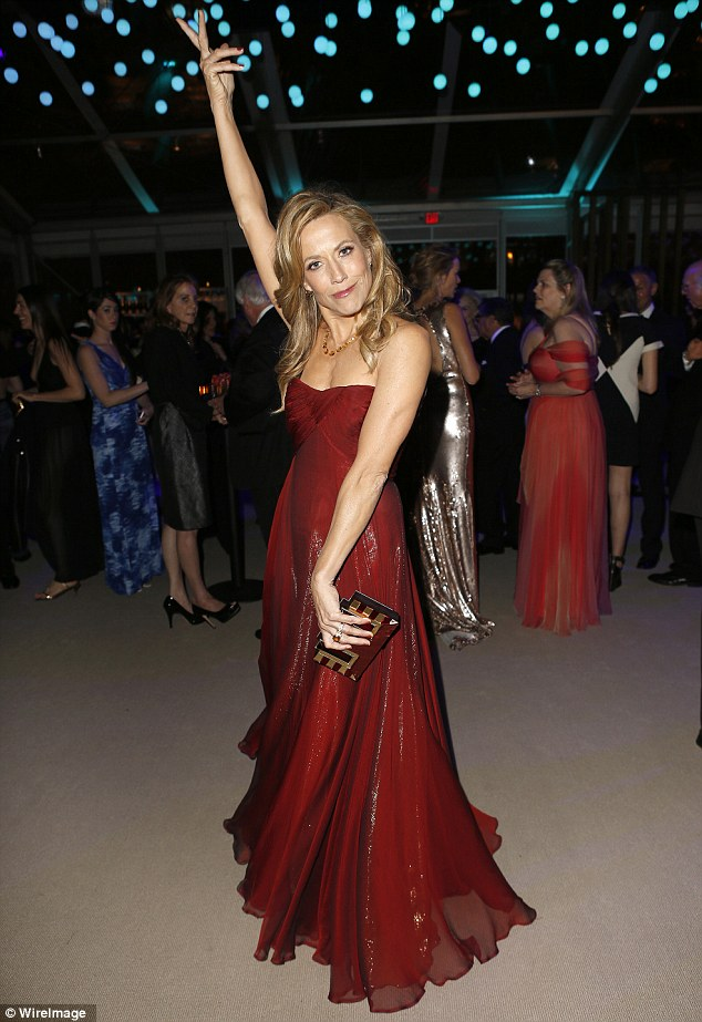 Ready to party: Sheryl Crow looked like she wanted to get down and dance
