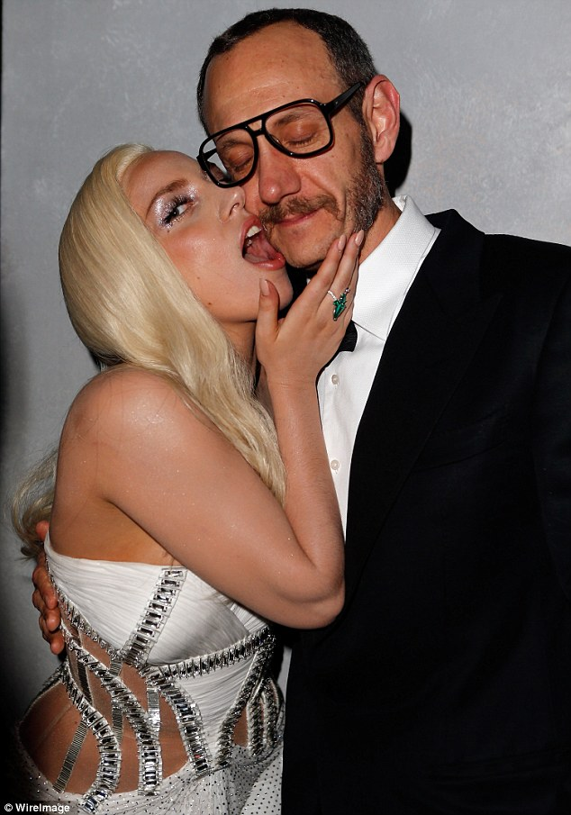 Classy: Lady Gaga poses with photographer Terry Richardson