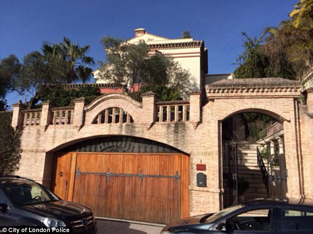 Raid: A number of luxury addresses, including this property in Marbella, were searched as part of the investigation