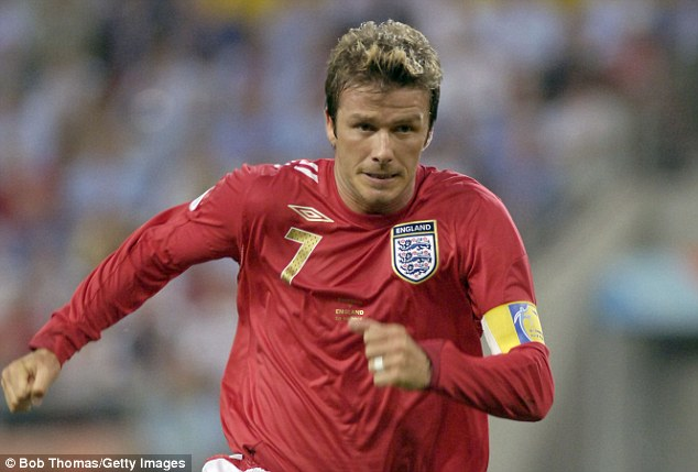 Captain material: Beckham was the main skipper during Eriksson's reign as England manager