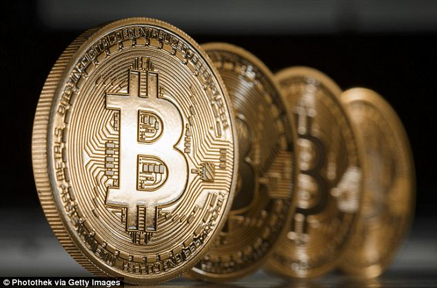 Bubble: Bitcoin's value has collapsed in the last three months and it is now worth only 50 per cent of what it was in November