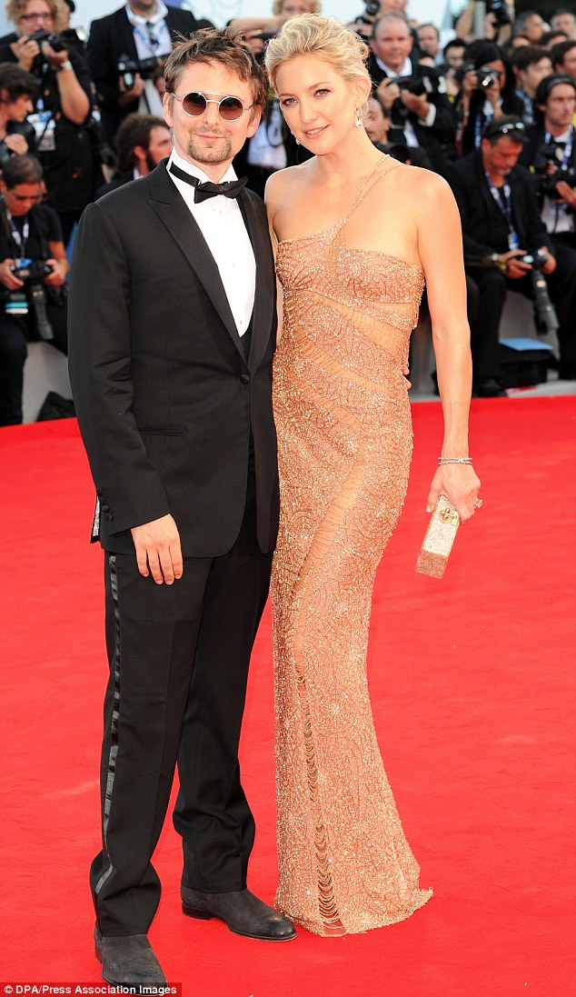 Red carpet elegance: Kate abnd fiance Matt at the premiere of the movie The Reluctant Fundamentalist in Venice 2012