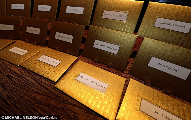 Long-running tradition: The Academy of Motion Picture Arts and Sciences has used sealed envelopes to reveal the winners since 1941