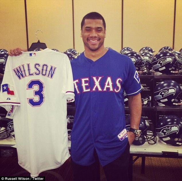 Lone Ranger: The Seattle Seahawks quarterback is also a part of the Texas Rangers baseball team