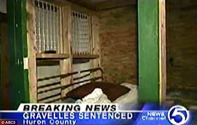 Cruel: The children, aged between one and 14, were locked up in caged made from wood and wire