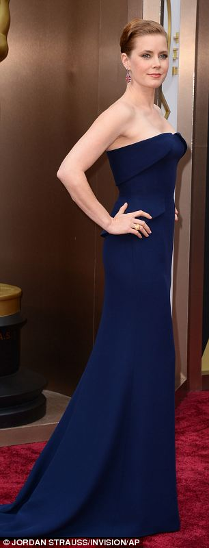 Amy Adams chose a navy Gucci dress for the ceremony