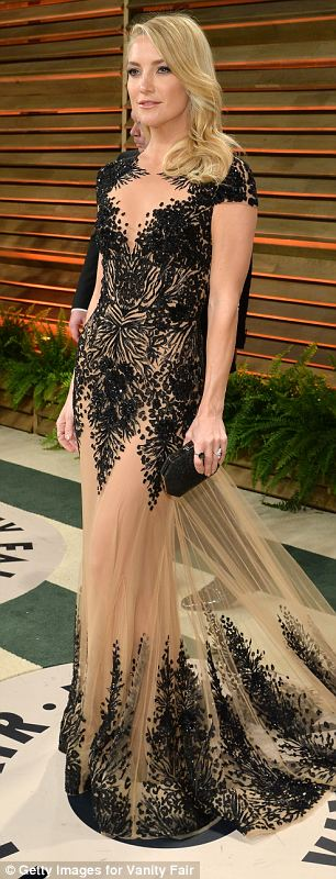 Later Kate changed into a daring embroidered gown by Zuhair Murad