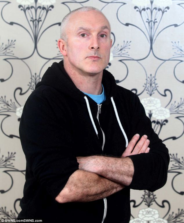 Ian Olver, pictured, had his head glued back together in hospital after the incident on Saturday