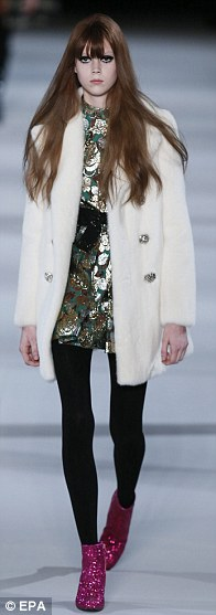 Shine bright: The collection by Hedi Slimane for Saint Laurent featured metallics and warm creams