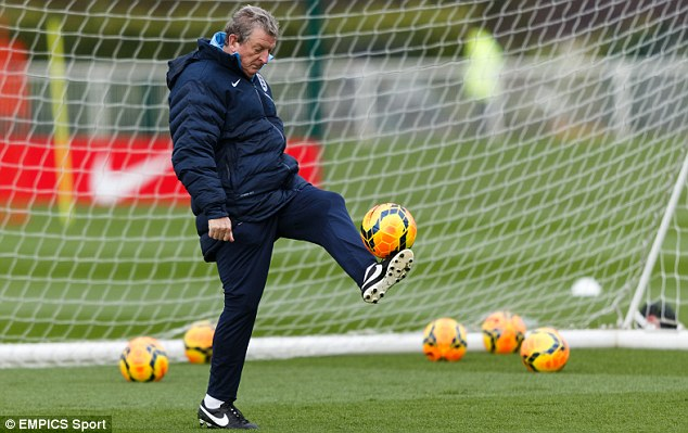 Still got it: England manager Roy Hodgson shows off his balling ability ahead of their Denmark friendly