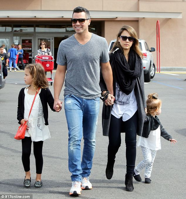 Working mother: Jessica and her husband Cash Warren are parents to two young daughters