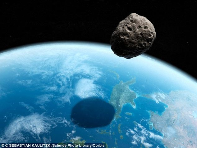 2014 DX110 is an Apollo class asteroid, which means it has an Earth-crossing orbit. If it hit Earth, an impacting Apollo asteroid would make a crate about 10-20 times its size