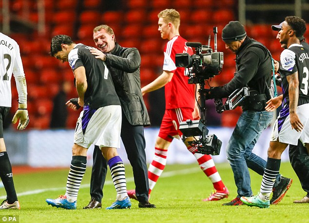 Driving force: Suarez enjoys a great relationship with Liverpool boss Brendan Rodgers