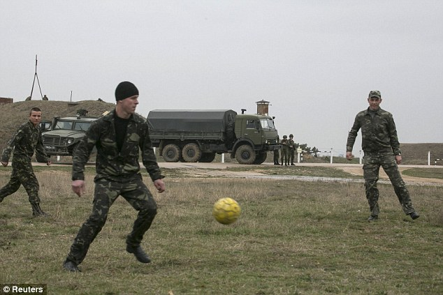 Pivotal: The stand-off comes as Vladimir Putin showed no signs of loosening the stranglehold on the Crimean peninsula, openly defying the threat of diplomatic and economic sanctions from world leaders