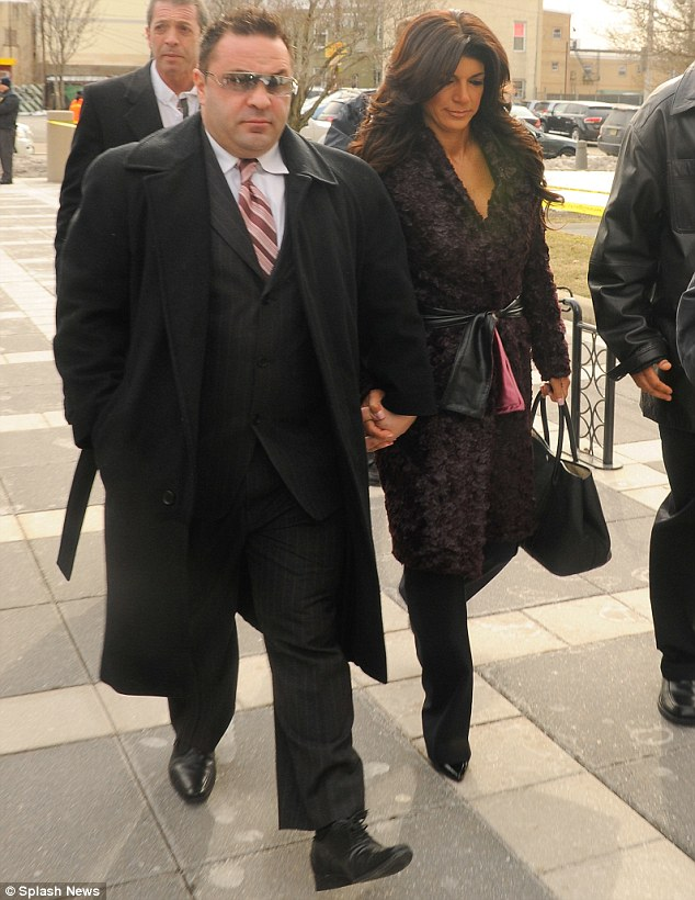 Double trouble: She was joined by husband Joe and they pleaded guilty on mortgage and bankruptcy fraud charges