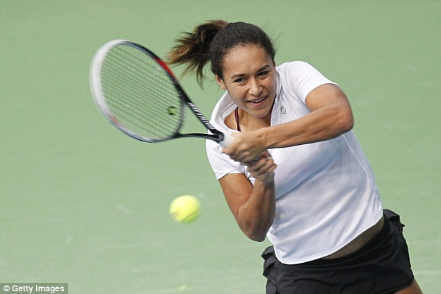 Through: Heather Watson booked her place in the Indian Wells main draw with victory over Teliana Pereira