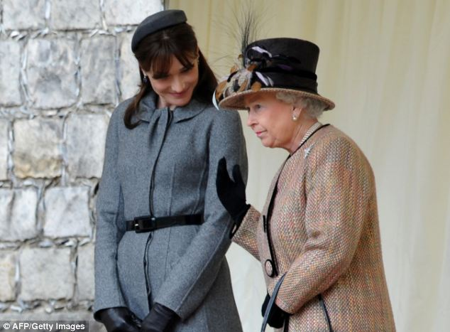 In the recording Ms Bruni-Sarkozy (pictured left with The Queen during a state visit in 2008) was recorded complaining about losing 'fabulous contracts'