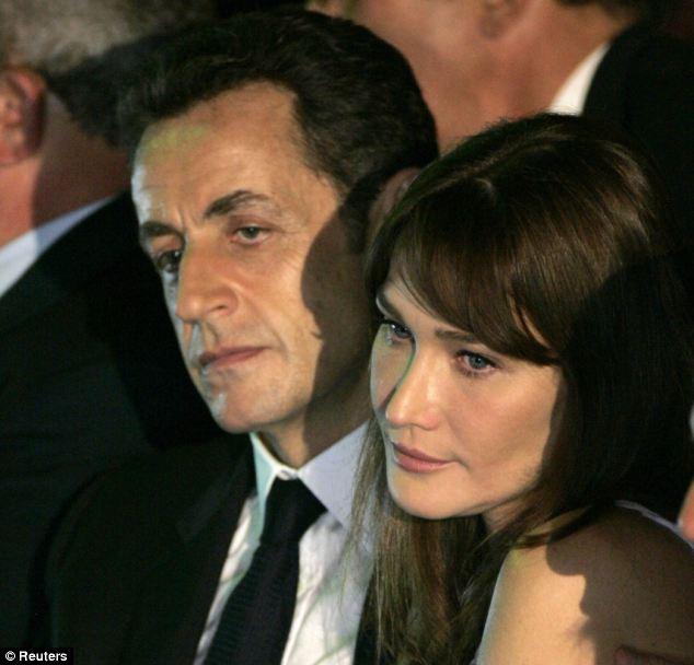 Nicolas Sarkozy (left) was 'kept' by his far wealthier wife Carla Bruni-Sarkozy (right) during his time as French President