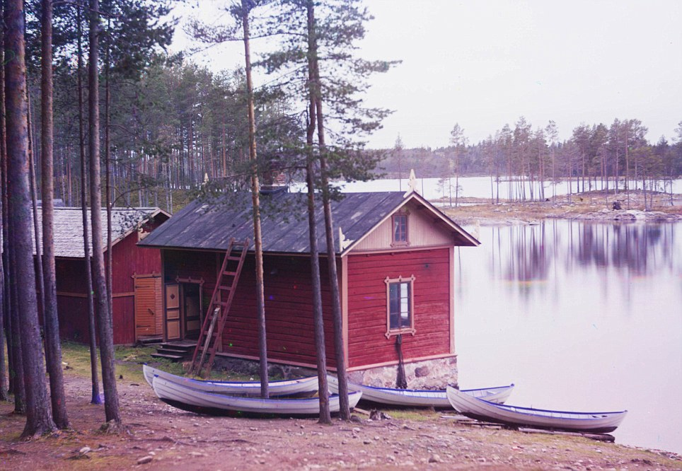Boathouse: Prokudin-Gorsky took photos of the country as it was about to enter WWI and then a revolution. But he still captured moments of tranquility and beauty