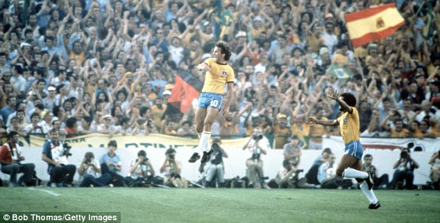 Head and shoulders above the rest: Zico (left) was one of the finest players Brazil have ever had