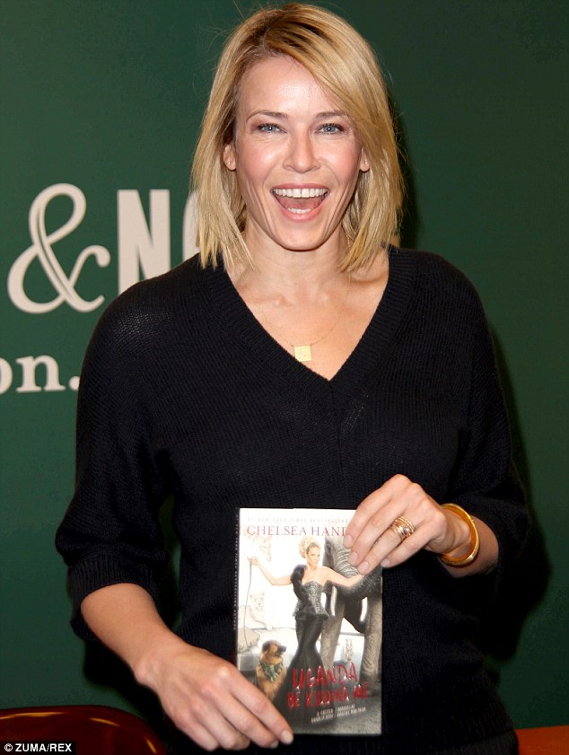 Fully booked: Chelsea was at a book signing for her latest tome in New York on Tuesday