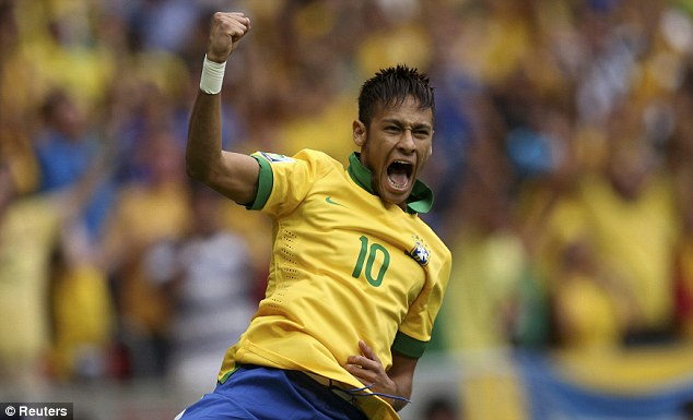 Champion: Neymar will be hoping to celebrate his tournament win with victory against South Africa