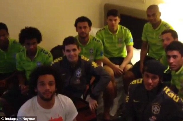 Game on: The players fought hotel room boredom with a FIFA 14 tournament