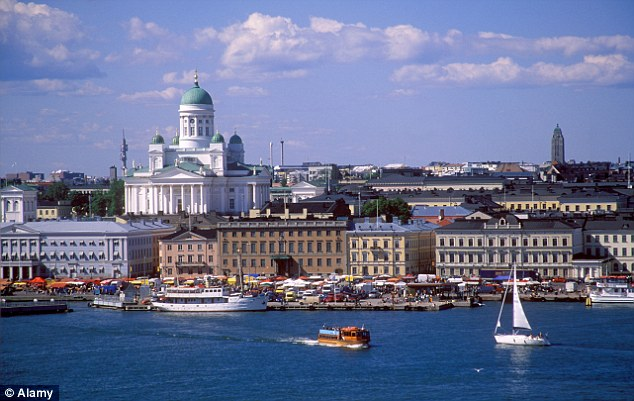 Helsinki: Women in Finland, pictured, report the second highest levels of violence against them (file image)