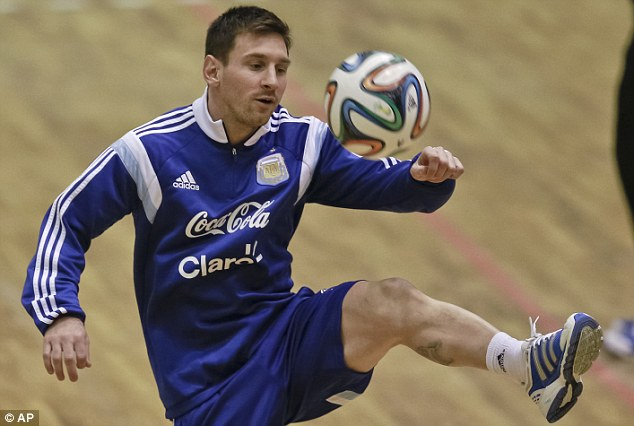 Mind the gap: Messi - along with Ronaldo - is operating on a different level to everyone else